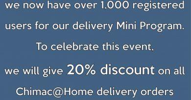 CHIMAC@HOME 1000+ user celebration Promotion