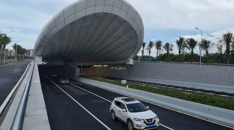Haikou Wenming East Tunnel under Nandu River opens to traffic