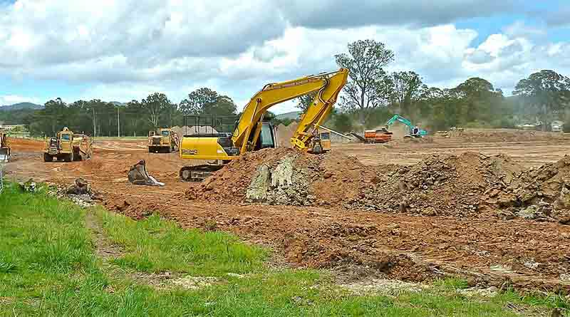 Road construction project of Jiangdong new area
