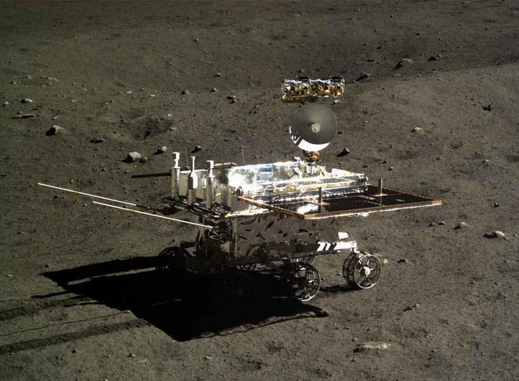 China's Yutu 2 rover explores the far side of the moon shortly after its Jan. 2, 2019, touchdown