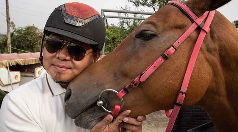 Horse riding in Hainan at the Haikou horse ranch