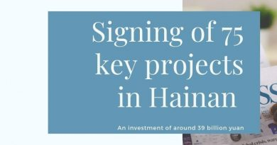 75 key projects have settled in Hainan total investment of around 39 billion yuan