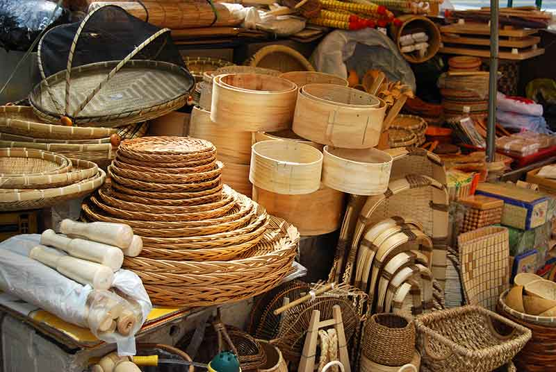 asian-market-of-bamboo-and-wicker-baskets