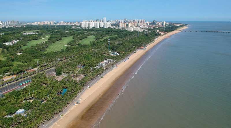 Beaches in Haikou city Hainan island