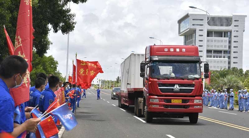 Long-March-7-remote-4-launch-vehicle-safely-arrived-at-Wenchang-space-launch-site-3